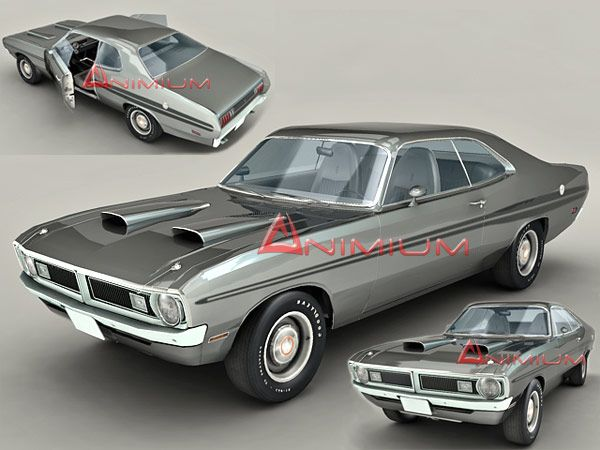 1971 Dodge Demon 3d model