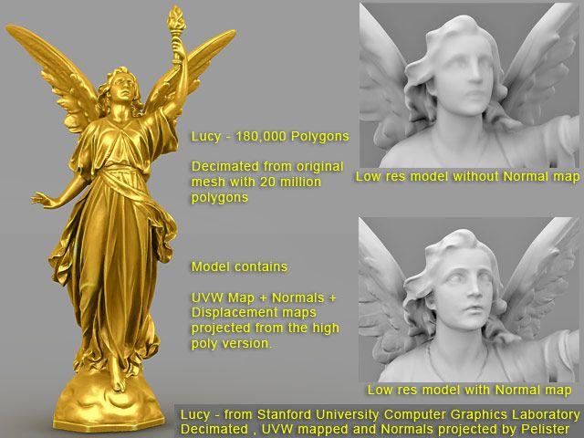 Lucy angel 3d model