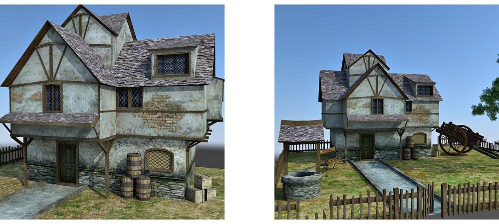 Medieval cottage 3d model