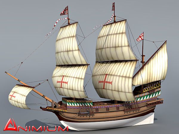 Galleon 3d model