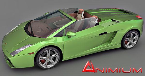 Lamborghini Gallardo Spyder 3d model