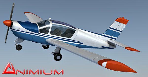 Rallye MS893 aircraft 3d model