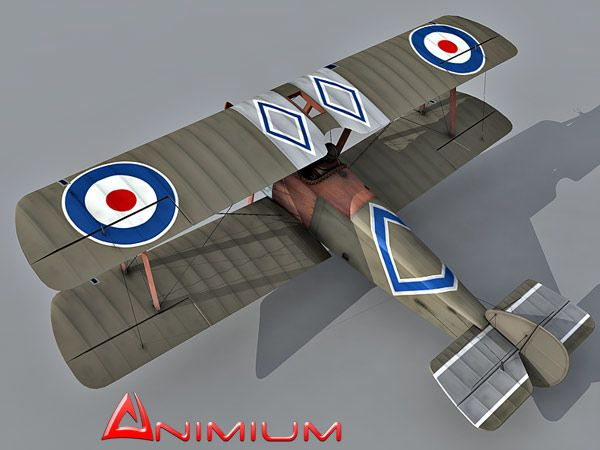 Sopwith Camel biplane 3d model