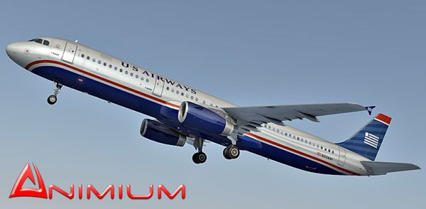 Airbus A321 US Airways – texture