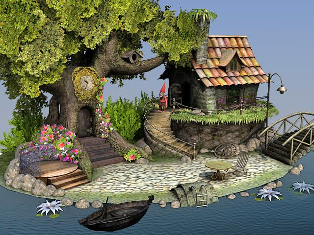 Dwarf House 3d scene