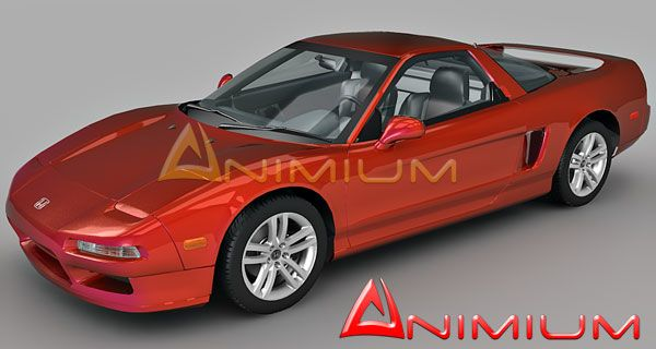 Honda NSX 3d car model