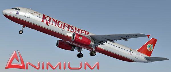 Airbus A321 Kingfisher Airlines