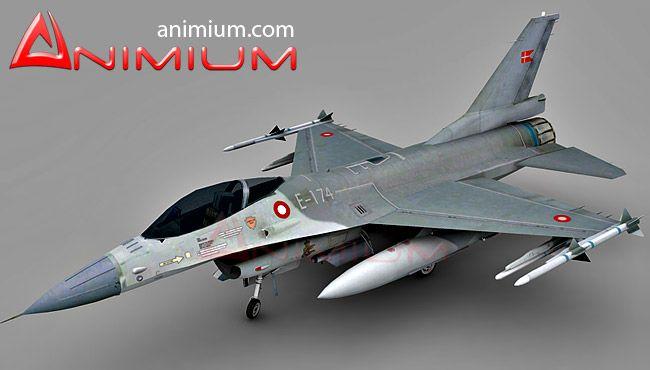F-16 military aircraft 3d model