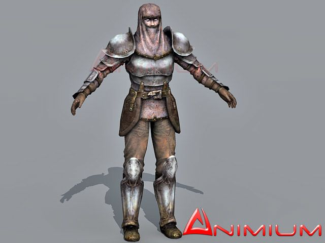 Medieval knight 3d character
