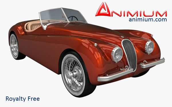 Jaguar XK120 classic car 3d model