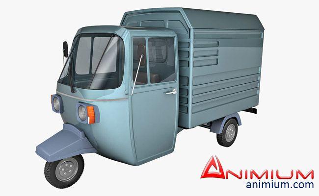 Auto Rickshaw Carrier 3d model