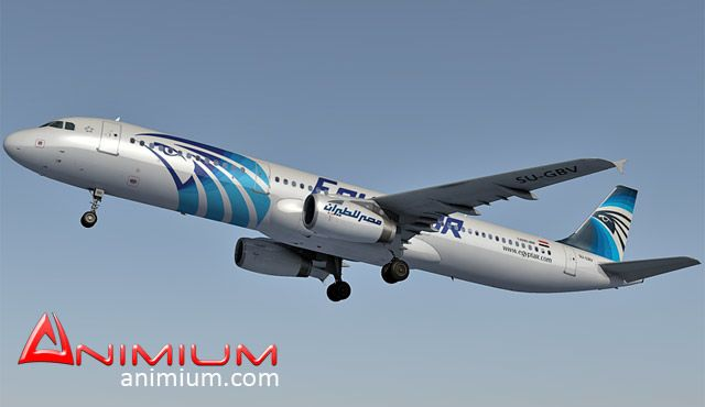 Airbus A321 EgyptAir 3d model