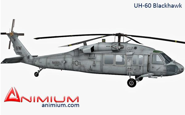 UH-60 Black hawk 3d model