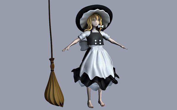 Kirisame Marisa 3d model