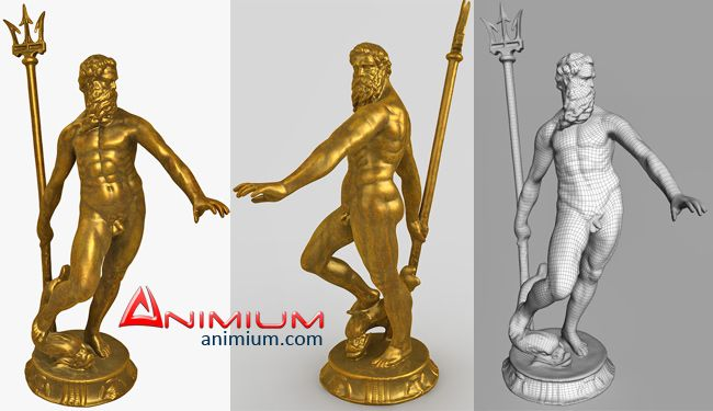 Poseidon Greek God 3d model