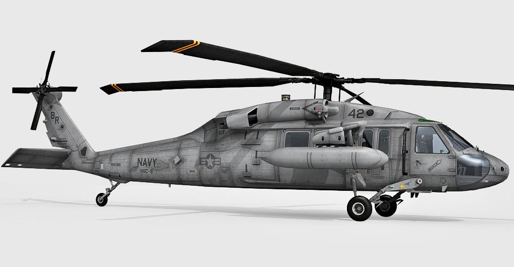 MH-60 Black Hawk helicopter 3d model