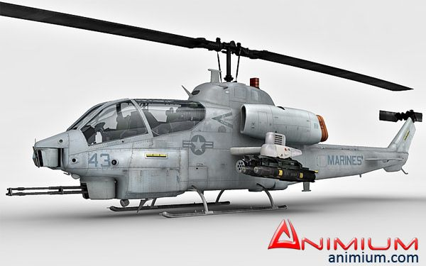 Bell AH-1 SuperCobra 3d model