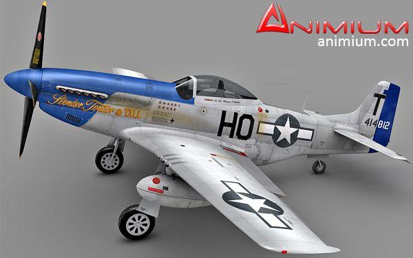 P-51D Mustang 3d model