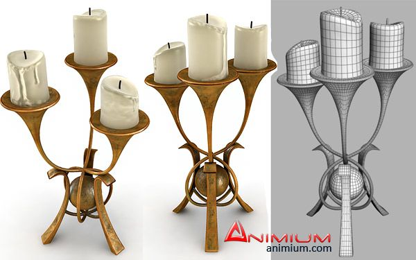 Candle Stand 3d model