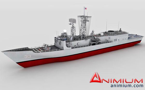 USS Jarret 3d model