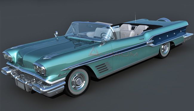 Pontiac Bonneville 1958 3d model