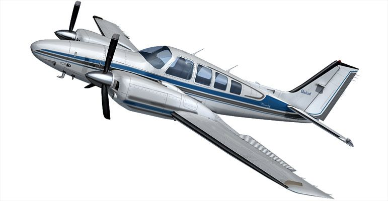 Beechcraft Baron 58 3d model
