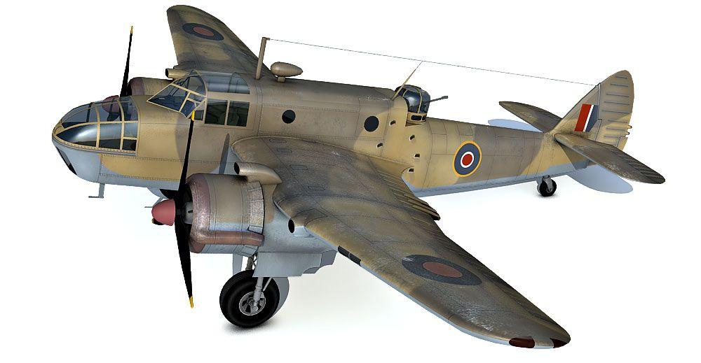 Bristol Beaufort 3d model