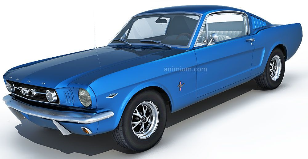 1966 Ford Mustang Fastback 289 3d model