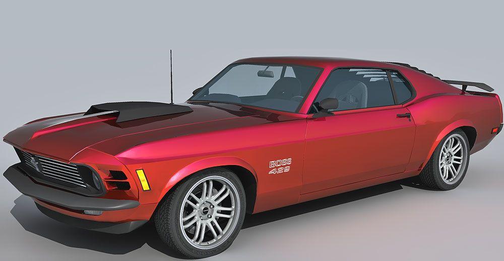 Ford Mustang Boss 429 3d model