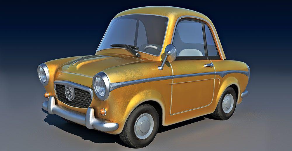Cartoon Car 3d model