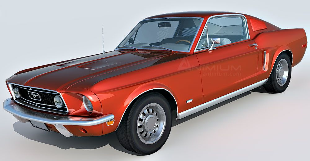 1968 Ford Mustang GT Fastback 390 3d model