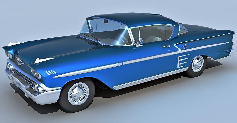 1958 Chevrolet Impala 3d model