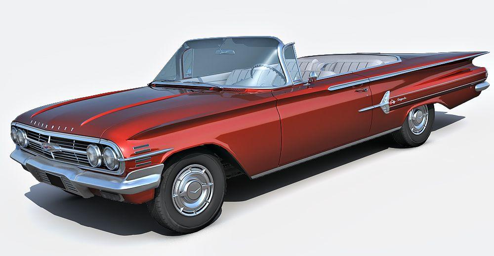 1960 Chevrolet Impala 3d model