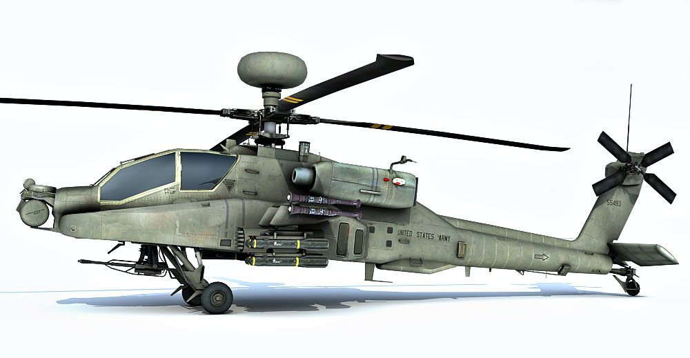 AH-64 Apache Longbow 3d model