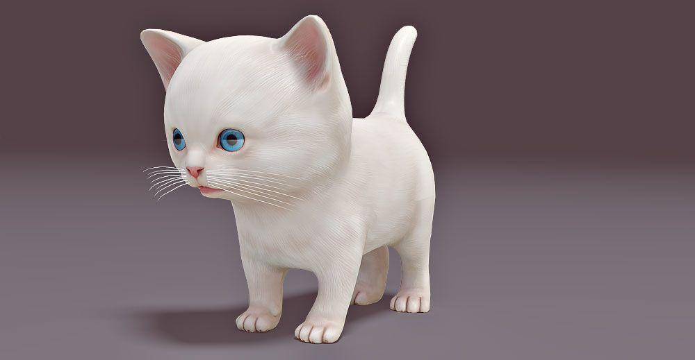 Kitten 3d model