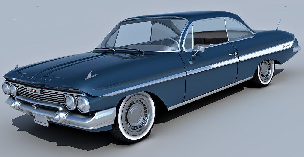 1961 Chevrolet Impala SS 3d model