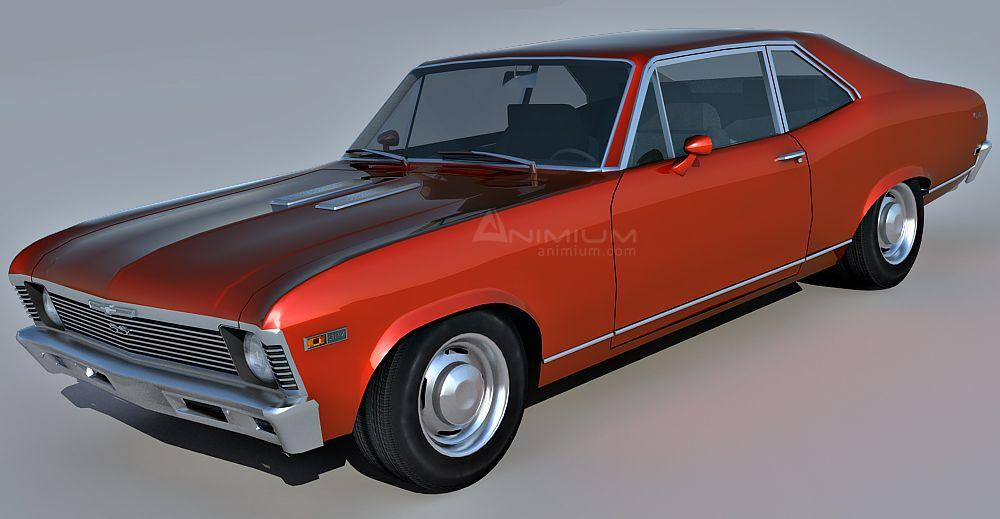 1969 Chevrolet Nova SS 3d model