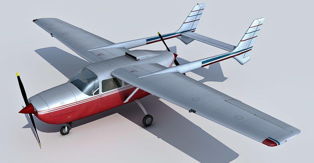 Cessna 337 3d model