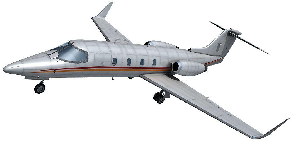 Learjet 28 3d model