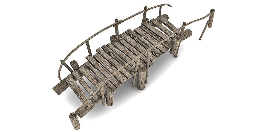 Wooden Bridge 3d model