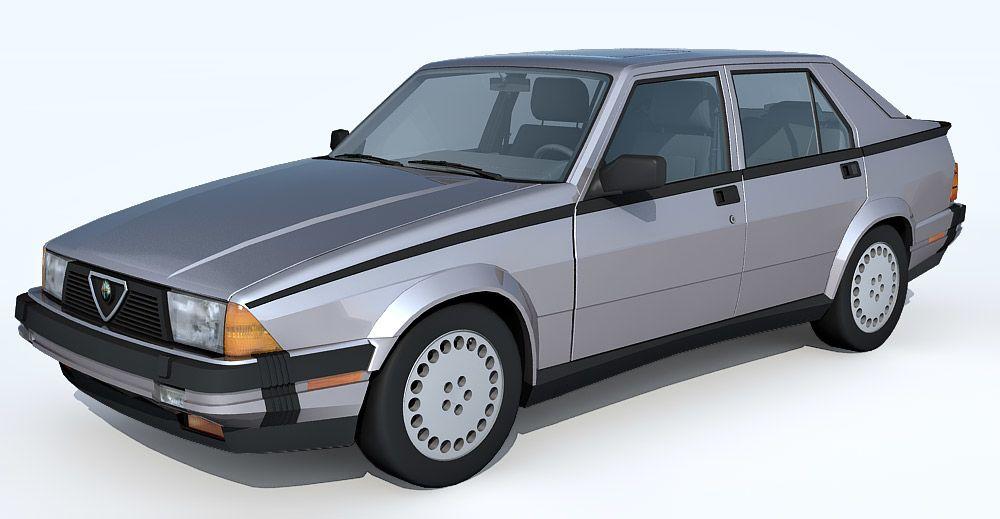 1987 Alfa Romeo Milano 3d model