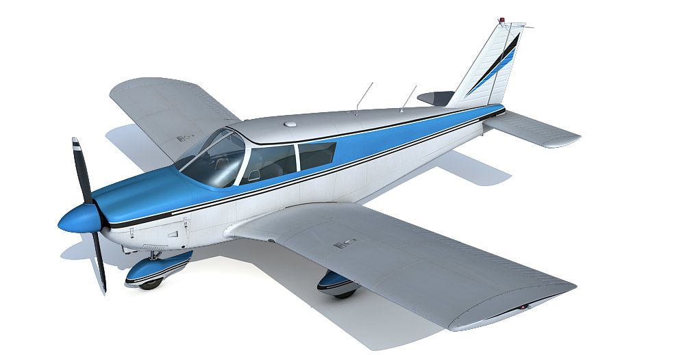 Piper PA-28 Cherokee 3d model