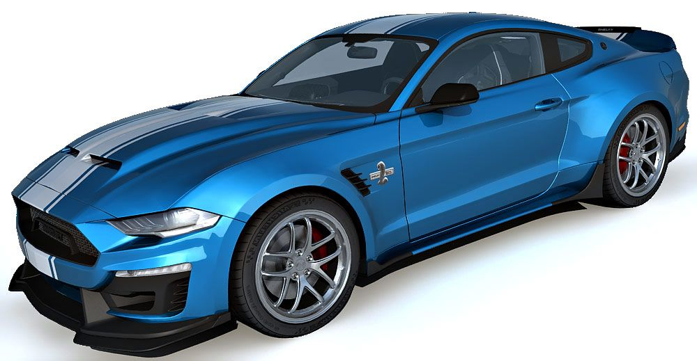 Ford Mustang Super snake 3d model