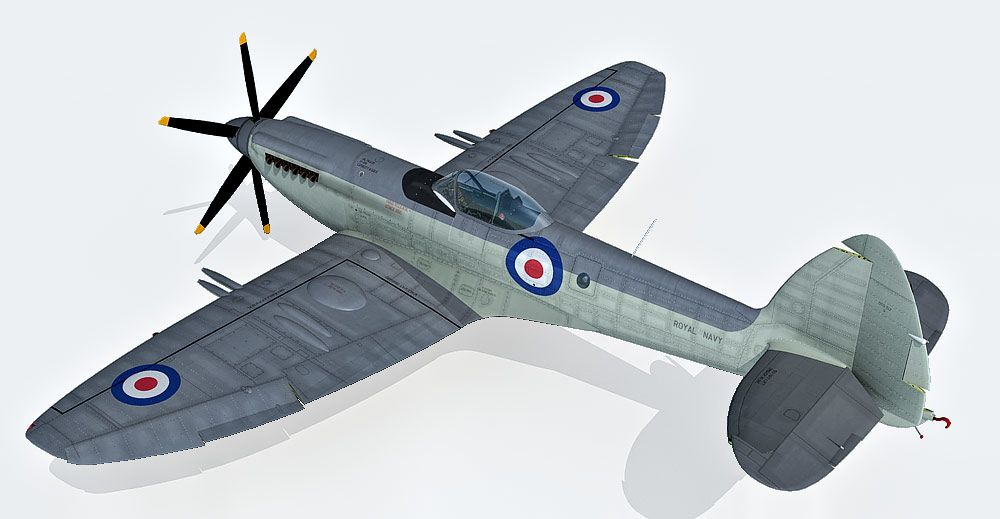 Supermarine Seafire 3d model