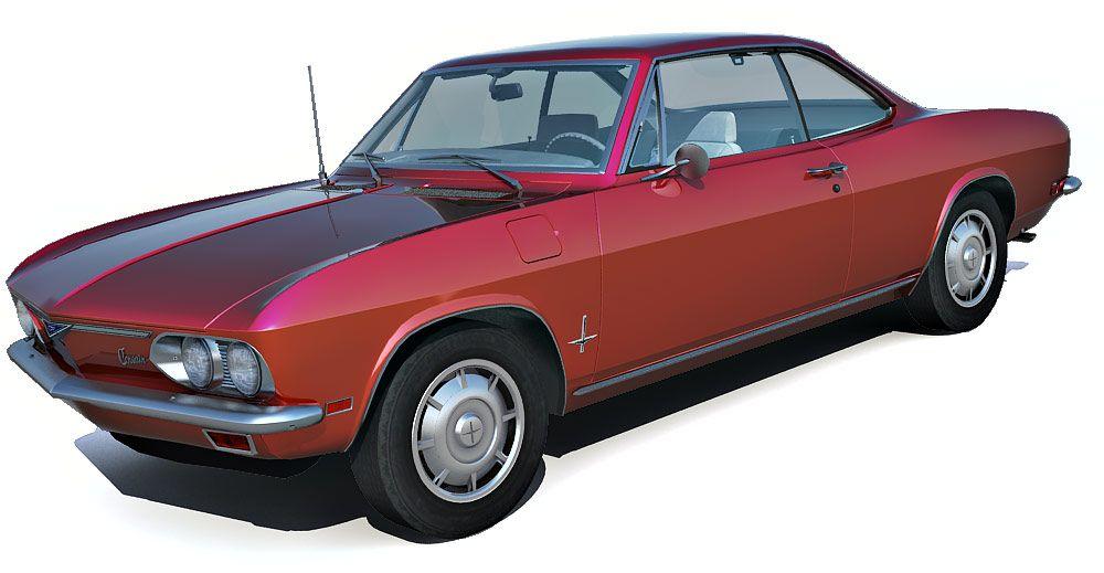 1969 Chevrolet Corvair Monza 3d model