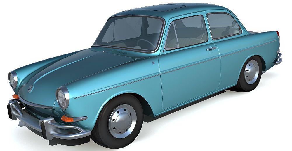 Volkswagen Notchback 3d model