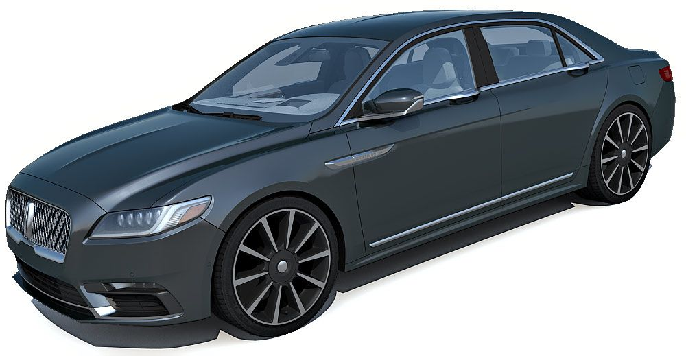2018 Lincoln Continental 3d model