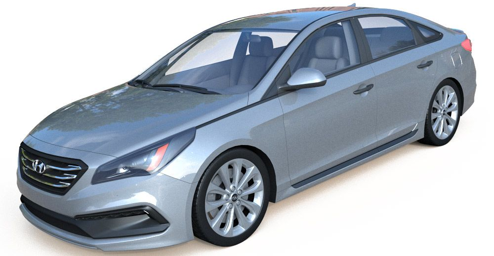 2016 Hyundai Sonata 3d model
