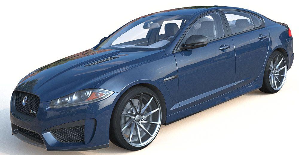 Jaguar XF 3d model