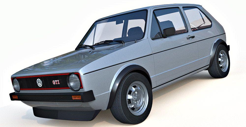 Volkswagen GTI MK1 3d model
